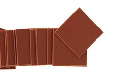 isolerade choklader arkivbilder