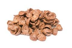 Isolerade chokladhavreflingor arkivbild