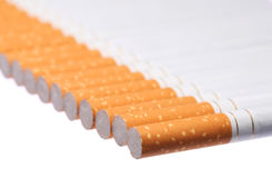 Isolerade cigaretter Royaltyfri Fotografi
