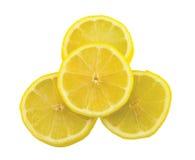 isolerade citronskivor Royaltyfri Bild
