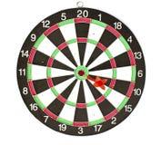 isolerade dartboardpilar Royaltyfri Foto
