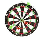 isolerade dartboardpilar Royaltyfri Fotografi