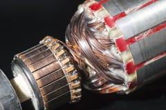 Isolerade delar av den elektriska motorn Arkivbild