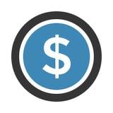 isolerade den abstrakt för dollarsymbolen för bakgrund 3d illustrationen white stock illustrationer