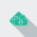 isolerade den abstrakt för dollarsymbolen för bakgrund 3d illustrationen white Royaltyfria Foton