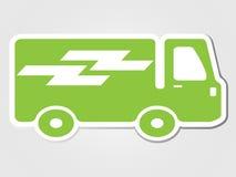 isolerade den fäste ihop klistermärken för leveransbilen illustrationtransportsymbolen Fotografering för Bildbyråer
