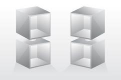 isolerade den tomma illustrationen för bokhyllan 3d vektorn Royaltyfria Foton