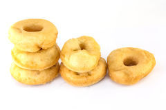 Isolerade Donuts eller munk Arkivfoton