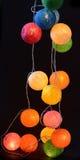 Isolerade färgglade lampor Royaltyfri Bild