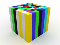 isolerade färgkuber Arkivfoto