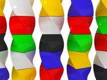 isolerade färgkuber Fotografering för Bildbyråer