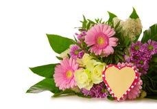 isolerade färgrika blommor för bukett Fotografering för Bildbyråer