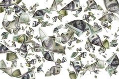 Isolerade fallande dollar Arkivbild