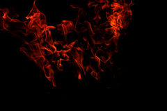 isolerade flammor Royaltyfri Fotografi