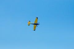 Isolerade flygshowplan Arkivbild