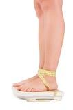 isolerade foten kvinnlig scales Royaltyfri Bild