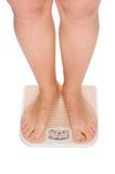 isolerade foten kvinnlig vita scales Arkivbilder