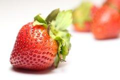 Isolerade frukter, jordgubbar Arkivbild