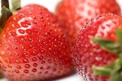 Isolerade frukter, jordgubbar Fotografering för Bildbyråer