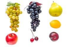 Isolerade frukter och grönsaker som göras av plast- Royaltyfria Bilder