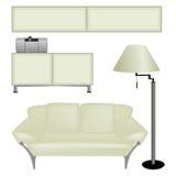 isolerade furnitures Royaltyfria Foton