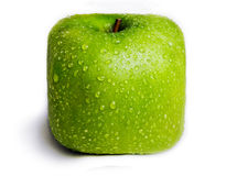 Isolerade fyrkantiga gröna Apple Arkivfoton