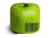 Isolerade fyrkantiga gröna Apple Arkivbilder