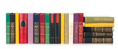 Isolerade gammala böcker Fotografering för Bildbyråer