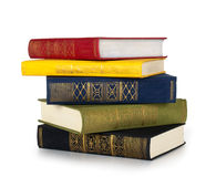 Isolerade gammala böcker Royaltyfri Fotografi