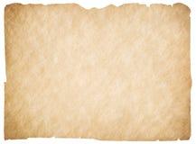 Isolerade gammalt tomt pergament eller papper Den snabba banan är inklusive Royaltyfri Bild