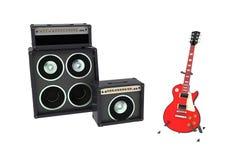 Isolerade gitarr och kolonner Royaltyfri Fotografi
