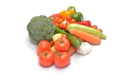 isolerade grönsaker Arkivbilder