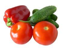 isolerade grönsaker Royaltyfri Bild