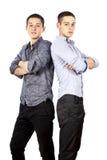 isolerade grabbar posera två Arkivfoto