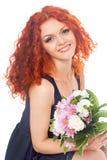 isolerade härliga blommor för bakgrund vitt kvinnabarn royaltyfri foto