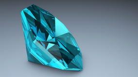 isolerade höga för diamant för bakgrund 3d framför blåa upplösning vit Begrepp mest dyrbar skönhet Royaltyfri Fotografi