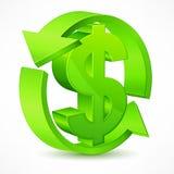 isolerade höga för dollar 3d framför upplösningssymbol vitt Royaltyfri Fotografi
