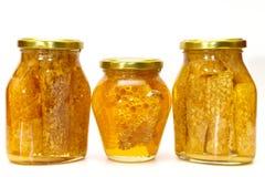 Isolerade honungjars Arkivbilder