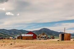 Isolerade hus, nordliga Mongoliet Arkivfoton