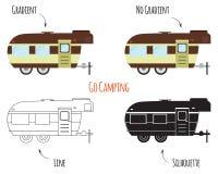 Isolerade husvagnsläp royaltyfri illustrationer