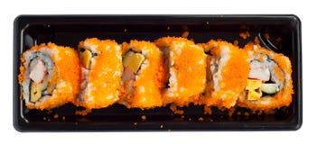 isolerade japanska sushi Royaltyfria Bilder
