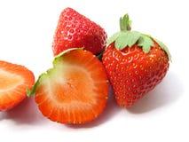 isolerade jordgubbar Royaltyfri Fotografi