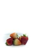 Isolerade körsbärsrött rött för jordgubbe på den vita isolaten, den främre sikten whit Arkivbild