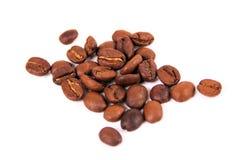 Isolerade kaffebönor Royaltyfri Fotografi