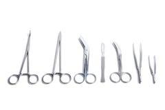 isolerade kirurgiska hjälpmedel Arkivfoton