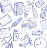 Isolerade kontorsartiklar Arkivbild