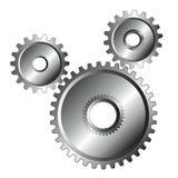 isolerade kromdesignkugghjul Arkivfoton