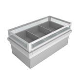 isolerade kylskåp lagrar white Royaltyfri Bild