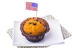 Isolerade läckra muffin på självständighetsdagen Arkivfoto