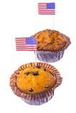 Isolerade läckra muffin på självständighetsdagen Arkivfoton